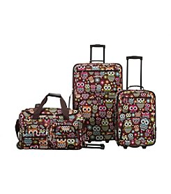 Rockland 3-pc. Owl Luggage Set