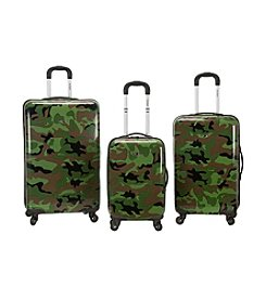 Rockland 3-pc. Camo ABS Upright Luggage Set