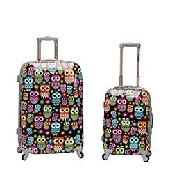 Rockland 2-pc. Owl ABS Upright Luggage Set