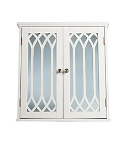 Elegant Home Fashions® Chateau Calais Wall Cabinet with Two Cathedral Mirrored Doors