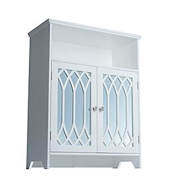 Elegant Home Fashions® Chateau Calais Floor Cabinet with Two Cathedral Mirrored Doors