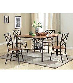 Baxton Studios Vintner 5-pc. Dining Set