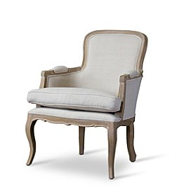 Baxton Studios Napoleon Traditional French Oak Accent Chair