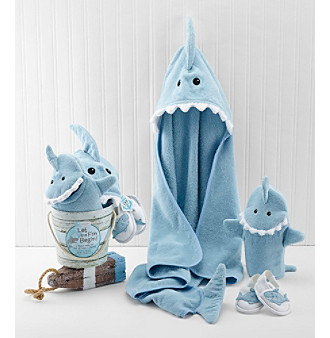 Baby Aspen 4-Piece Shark Fin Bath Gift Set