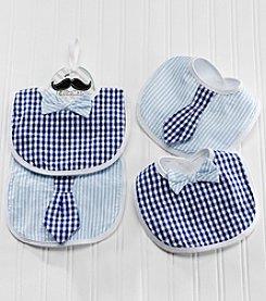 Baby Aspen 2-Piece Gingham Tie Bibs Gift Set