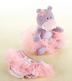 Baby Aspen Plush Hippo and Bloomer for Baby