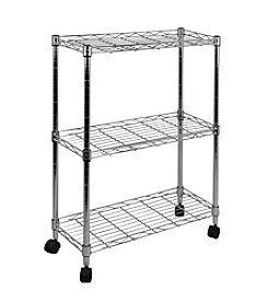 Oceanstar 3-Tier Chrome Shelving All-Purpose Utility Cart