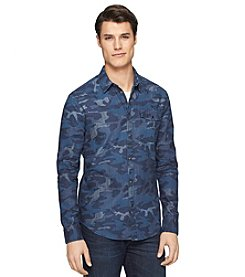 Calvin Klein Jeans Men's Long Sleeve Camo Woven