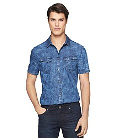 Calvin Klein Jeans Men's Short Sleeve Cloudy Woven