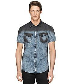 Calvin Klein Jeans Men's Short Sleeve Oil Slick Woven