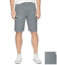 Calvin Klein Jeans Men's Poplin Flat Front Shorts