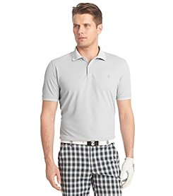 Izod® Men's Short Sleeve Solid Mesh Argyle Polo