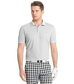 Izod® Men's Short Sleeve Solid Mesh Argyle Polo