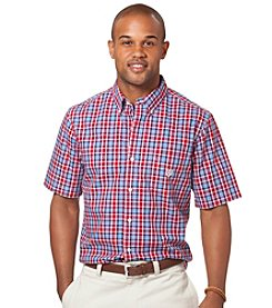 Chaps® Men's Short Sleeve Ridgewood Check Woven