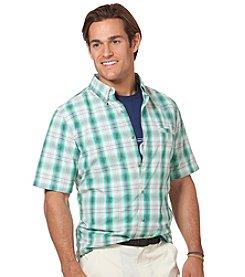 Chaps® Men's Short Sleeve Hardwood Plaid Woven