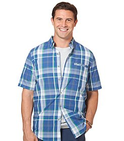 Chaps® Men's Short Sleeve Wallace Plaid Woven