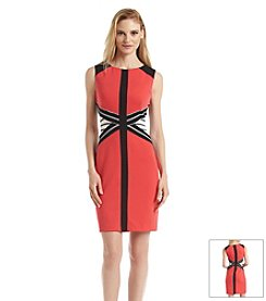 Ivanka Trump® Colorblock Panel Sheath Dress