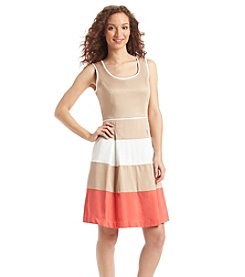 Nine West® Colorblock Fit And Flare Dress