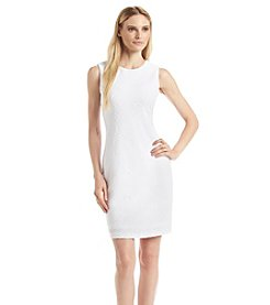 Calvin Klein Wavy Knit Jersey Sheath Dress