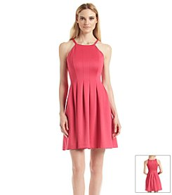 Calvin Klein Seamed Fit And Flare Dress