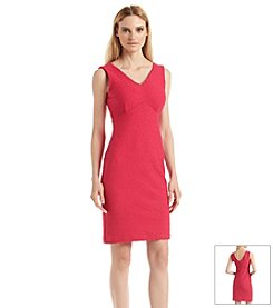 Calvin Klein Double Wavy Sheath Dress