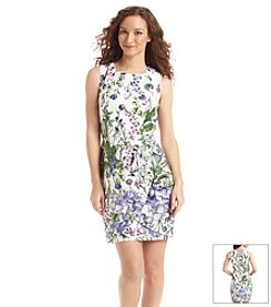 Julian Taylor Floral Lace Sheath Dress