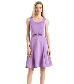 Spense® Fit And Flare Belted Dress
