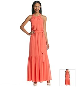 Jessica Simpson Blouson Chiffon Maxi Dress