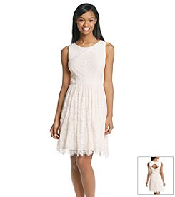 Jessica Simpson Contrast Lace Dress