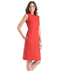Anne Klein® Zip Pocket Red Ponte Dress
