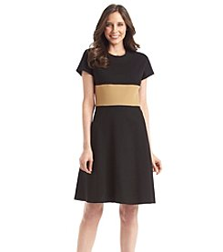 Anne Klein® Colorblock Fit And Flare Dress