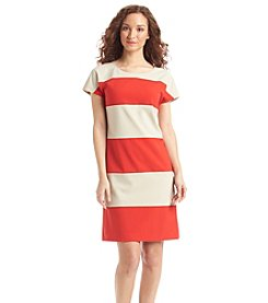 Anne Klein® Rugby Stripe Dress