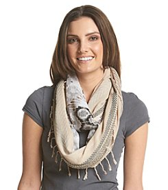 Collection 18 Cool Woven Mixed Media Loop Scarf