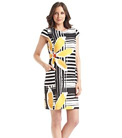 Julian Taylor Multi Media Scuba Shift Dress