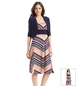 Perceptions Chevron Jacket Dress
