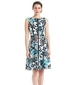London Times® Floral Print Dress