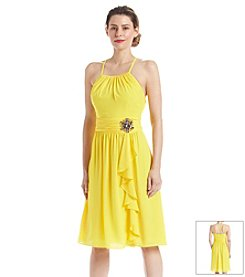 Nine West® Ruffle Chiffon Dress