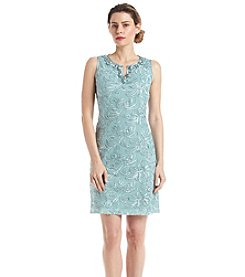 Jessica Howard® Beaded Split Neck Dress
