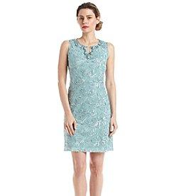 Jessica Howard® Beaded Split Neck Dress