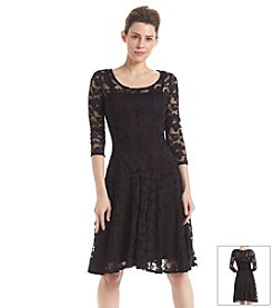 Chetta B. All Over Lace Dress