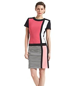 Chetta B. Colorblock Crepe Dress