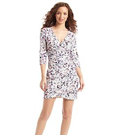 Guess Printed Zip Wrap Dress