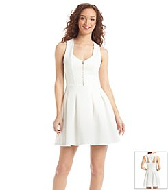 Guess Textured Scuba Fit And Flare Dress