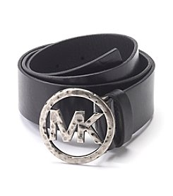 MICHAEL Michael Kors® Leather Panel Hammered Buckle Belt