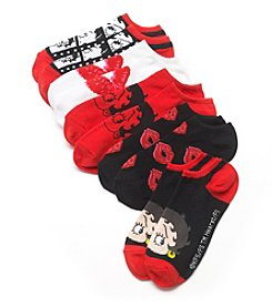High Point 5 Pack Betty Boop No Show Socks
