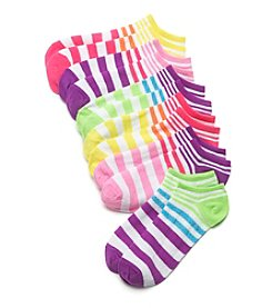 High Point 6 Pack Stripe No Show Socks