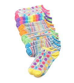 High Point 6 Pack Heathered Pattern No Show Socks