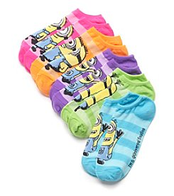 High Point 5 Pack Despicable Me No Show Socks