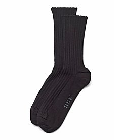 HUE® Scalloped Pointelle Socks