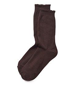 HUE® Solid Femme Top Socks